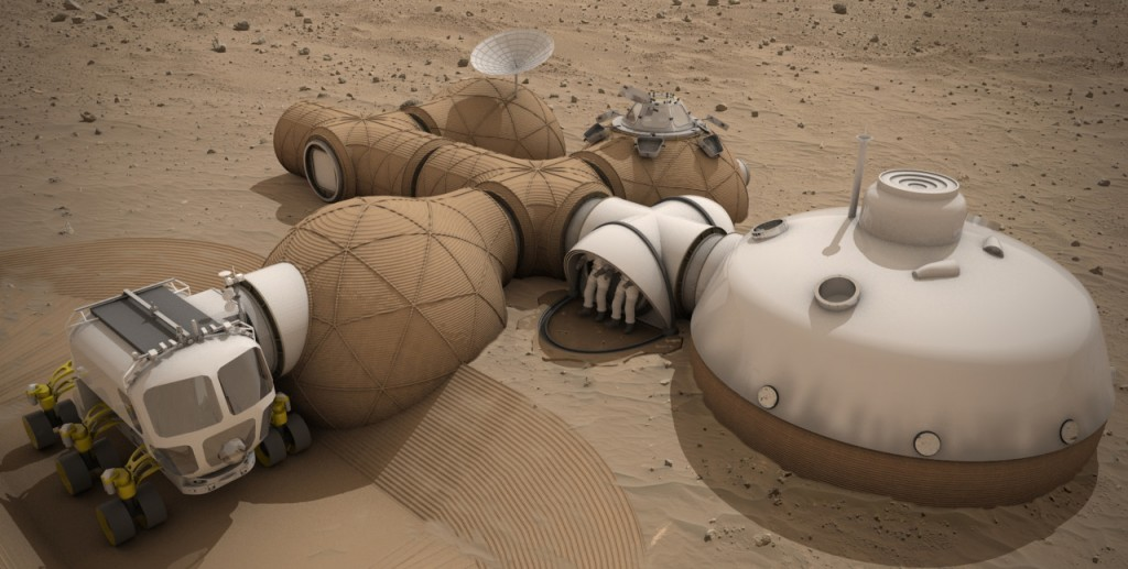 AstroNova le Blog de l'astronomie et de l'espace - Projet d'habitat sur Mars © LavaHive / NASA
