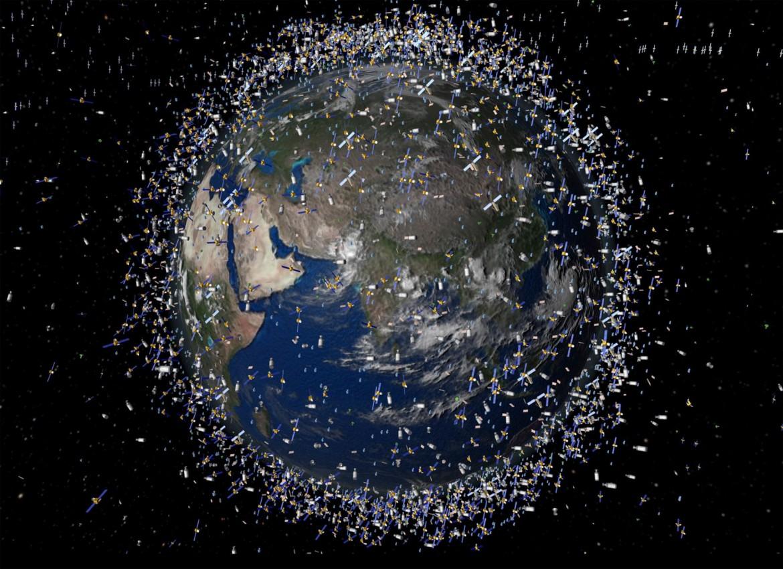 Débris spatiaux autour de la Terre