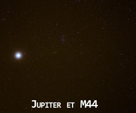 Observer une planète à l'oeil nu : Jupiter et M44, visibles à l'oeil nu. Astronova.