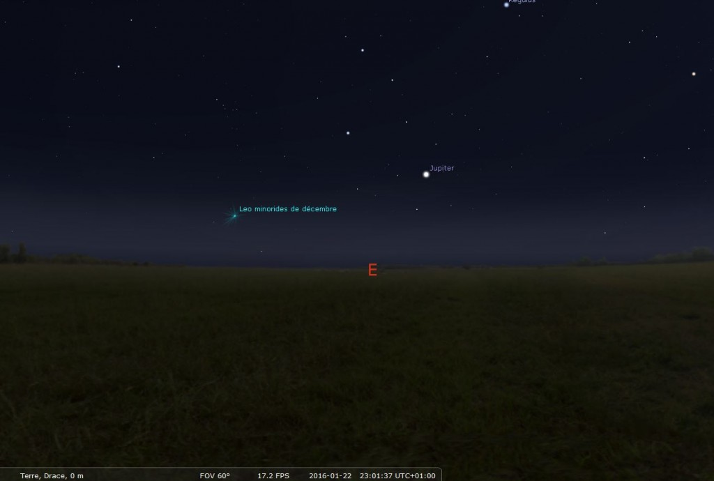 Astronova site astronomie - astro 2016 observer Jupiter oeil nu - position Jupiter 22012016