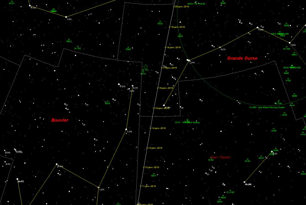 Observation astronomie. Où se situe la comète Catalina ? Comment puis-je voir la comète Catalina en janvier 2016 ? Astronova