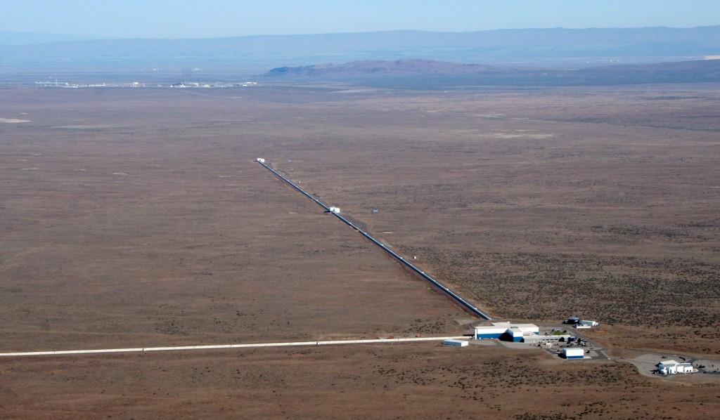 Vue aérienne de l'observatoire LIGO de Hanford © LSC