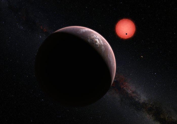 Vue d'artiste du système TRAPPIST-1 © ESO