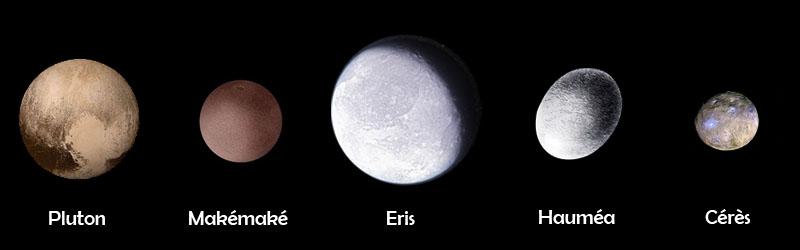 Planètes naines © Astronova.fr