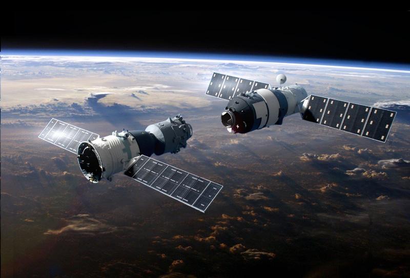 Shenzhou 9 et Tiangong 1 © Ninfinger