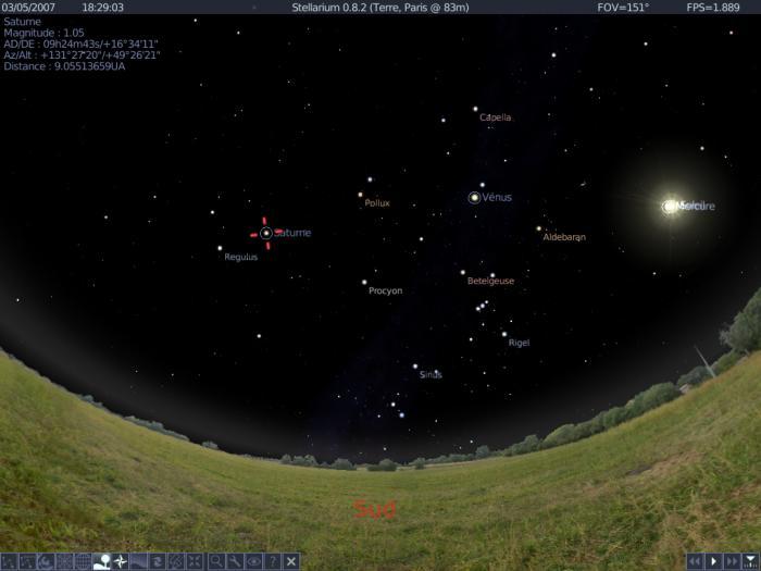 Logiciel Stellarium © Stellarium