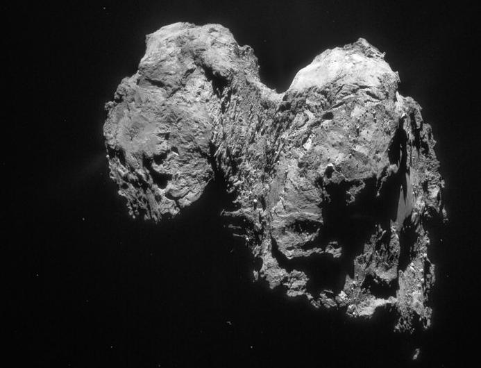 La comète Tchouri en forme de canard © ESA