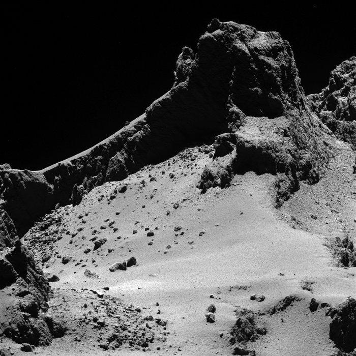 Vue de la comète à une distance de 8km © ESA