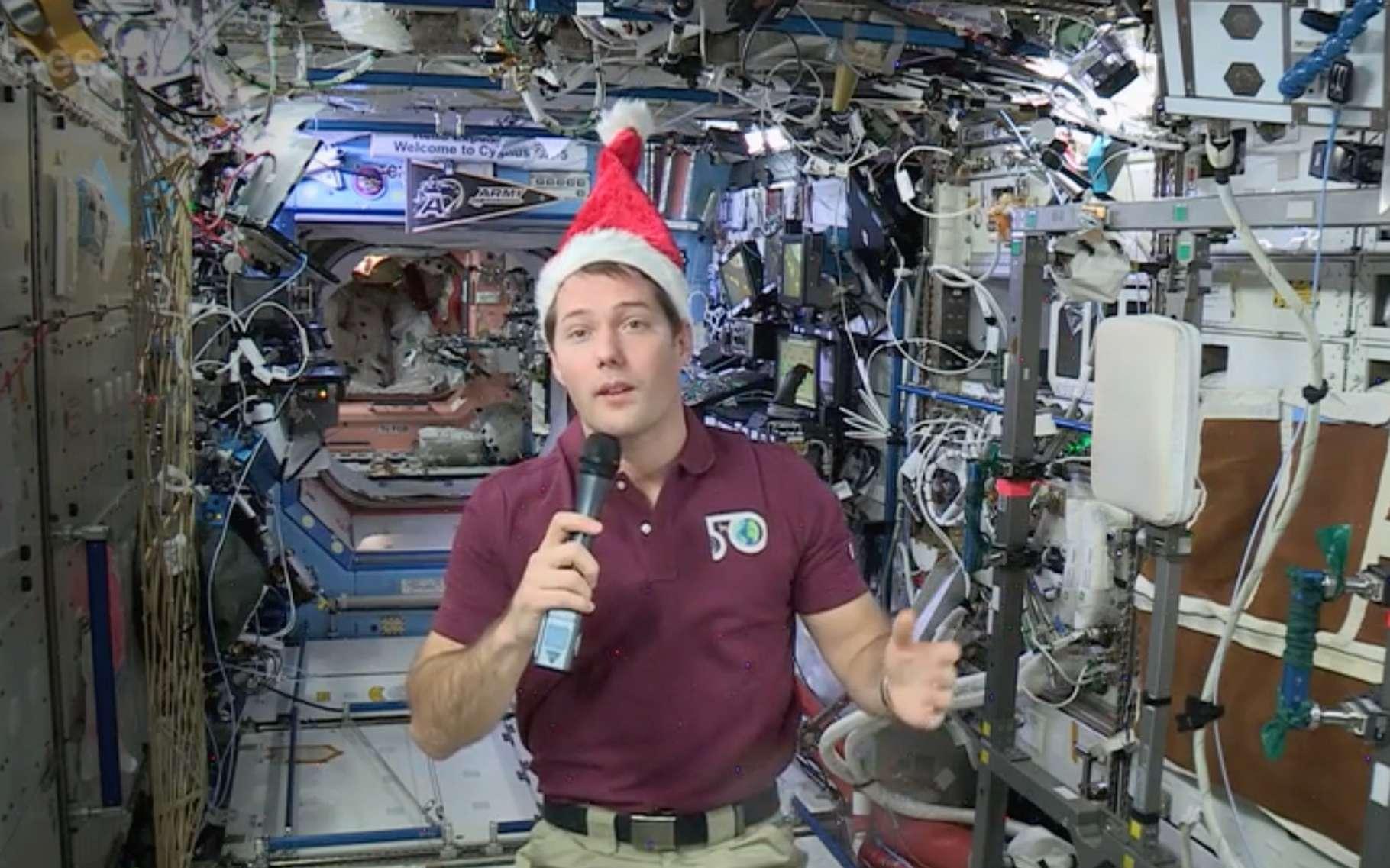 Thomas Pesquet fête Noël à bord de l'ISS © FuturaSciences