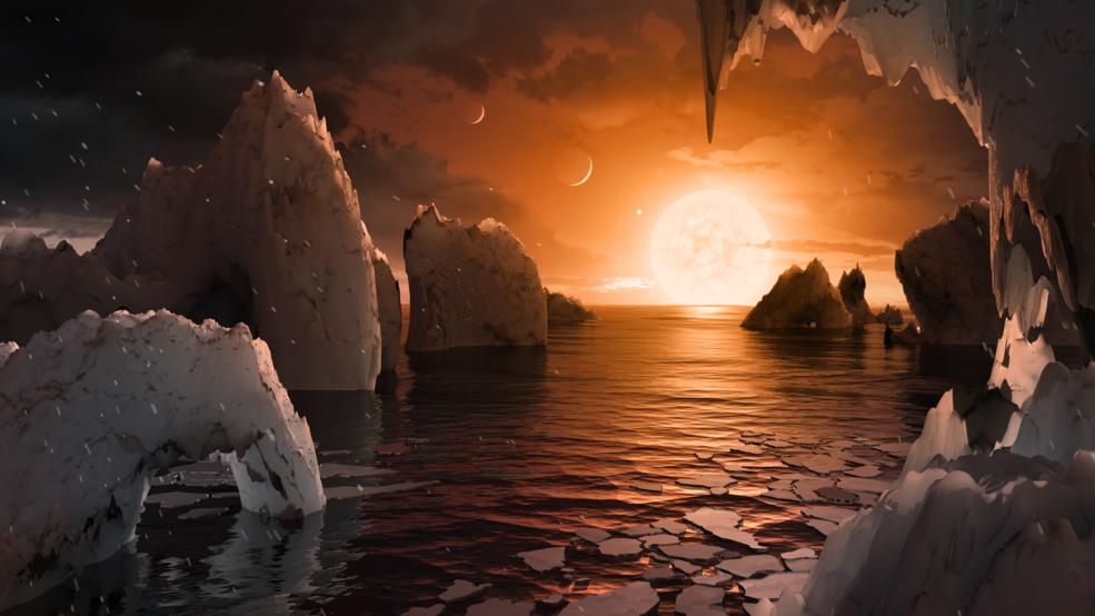 Découverte de 7 exoplanètes dans le système Trappist-1 © NASA/JPL-Caltech