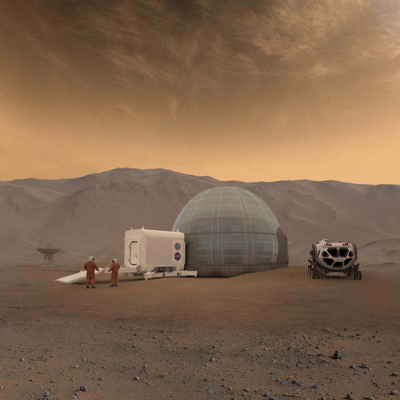 Concept Mars Ice Home © NASA