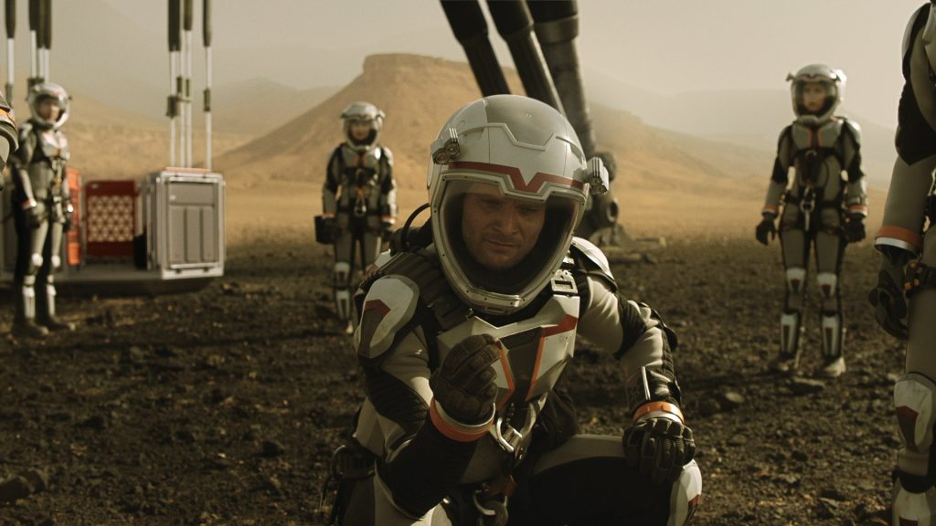 L'équipage de Daedelus à son arrivée sur Mars © National Geo