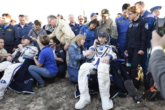 Thomas Pesquet est rentré sur Terre © ESA