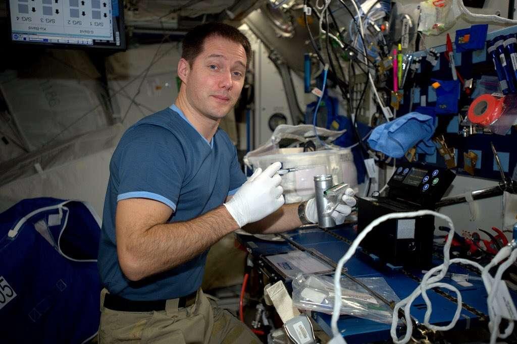 Thomas Pesquet à bord de l'ISS © ESA/NASA