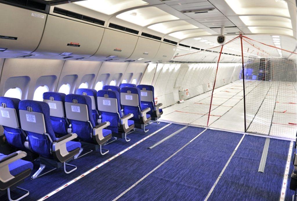 A l'intérieur de l'avion Zéro-G © Novespace