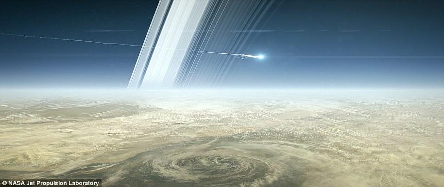 La sonde va se consumer dans l'atmosphère de Saturne © JPL