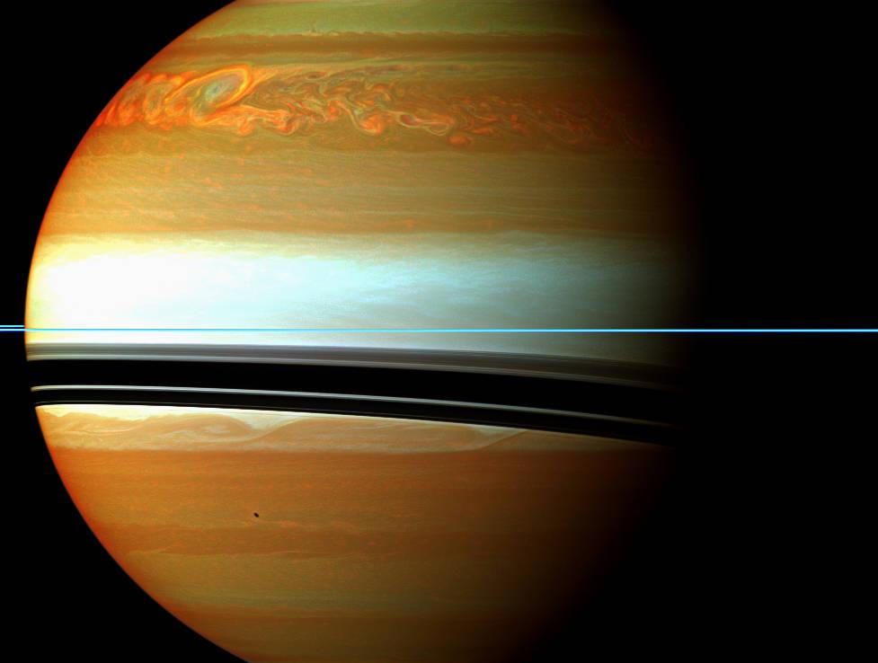 Tempête géante sur Saturne © NASA