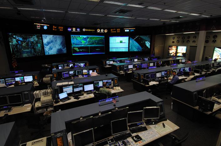Le centre de contrôle de Houston © NASA