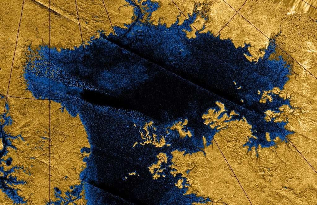 Kraken Mare sur Titan © NASA