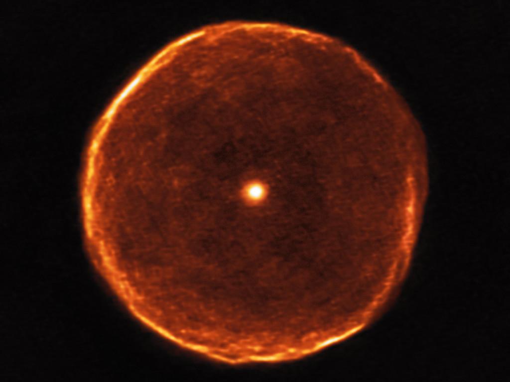 Nébuleuse planétaire en formation autour de U Antliae © ESO