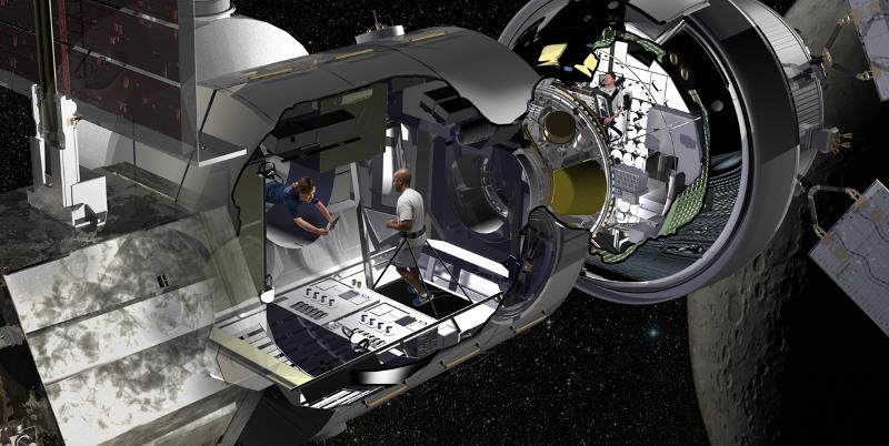 Concept d'habitat spatial présenté par Lockheed Martin © Lockheed Martin