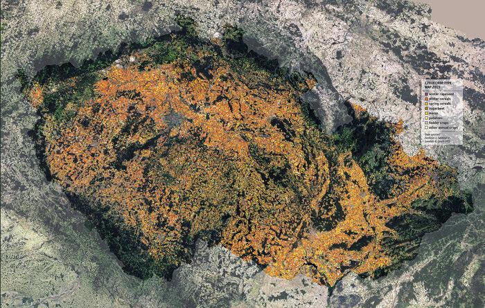 Cartographie de l'agriculture en Tchéquie © DUE Sentinel-2 for Agriculture project