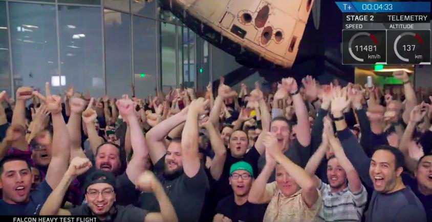 La joie des équipes SpaceX © SpaceX