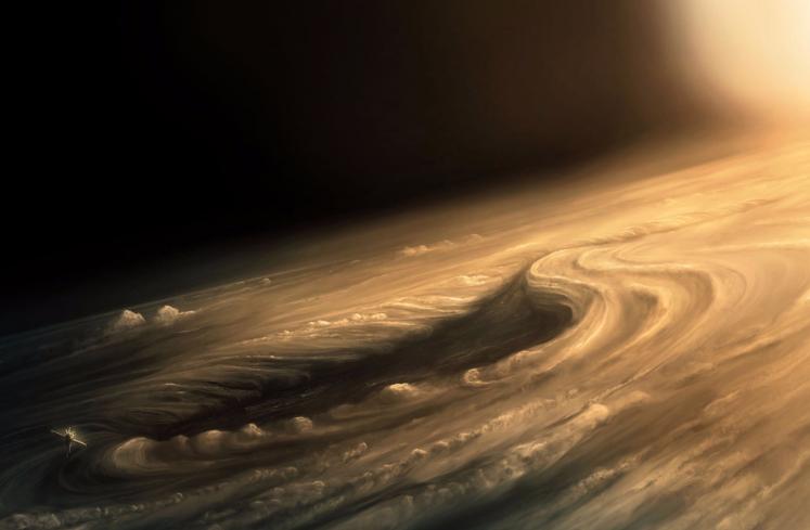 Vue d'artiste de l'atmosphère jovienne © Capitalberg