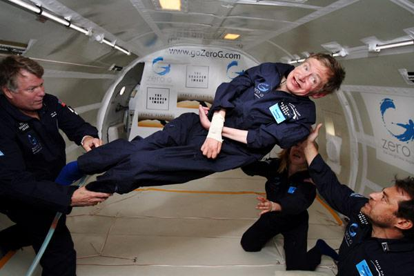 Vol Zéro-G de Stephen Hawking © New Scientist