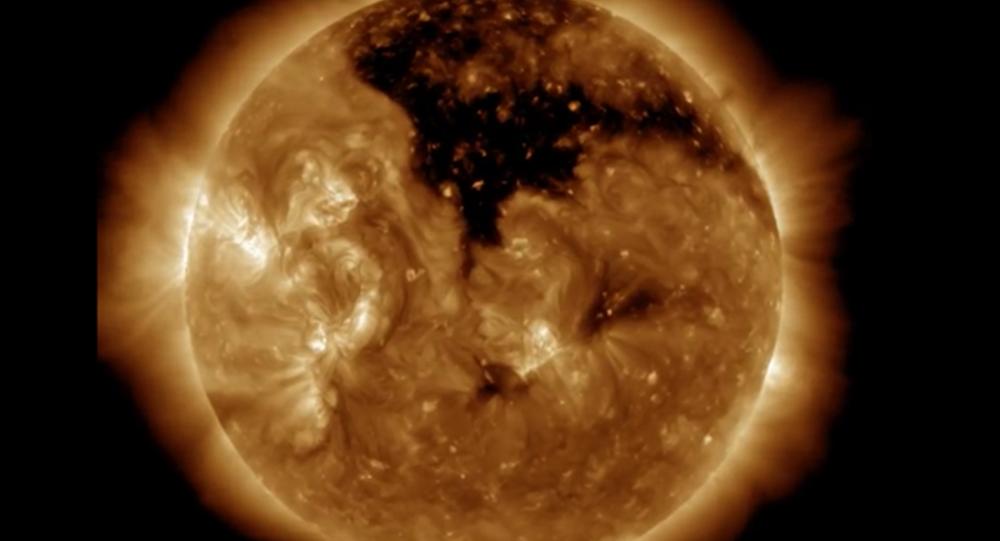 Trou coronal sur le Soleil © NASA