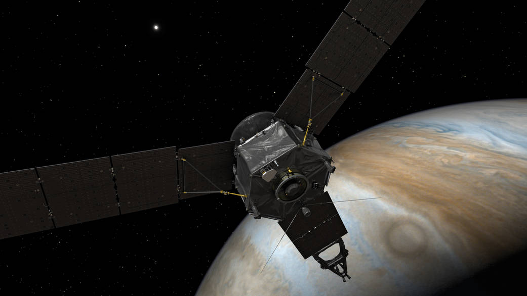Juno à l'approche de Jupiter © NASA
