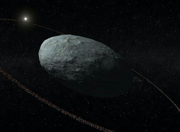 La planète naine Hauméa dans la Ceinture de Kuiper